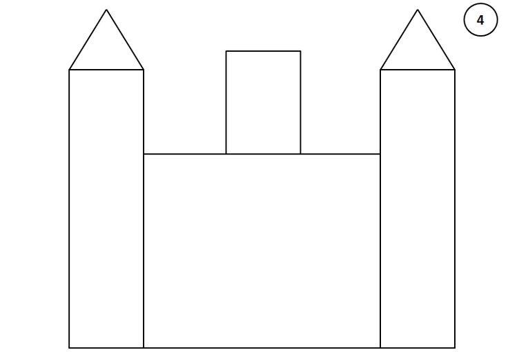 Stappenplan kasteel tekenen 4