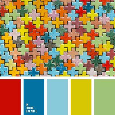 """""""пыльный"""" желтый, алый, голубой, зеленый, красный, небесный, оттенки синего, подбор цвета, салатовый, синий, цветовое решение для дома, яркий красный."""