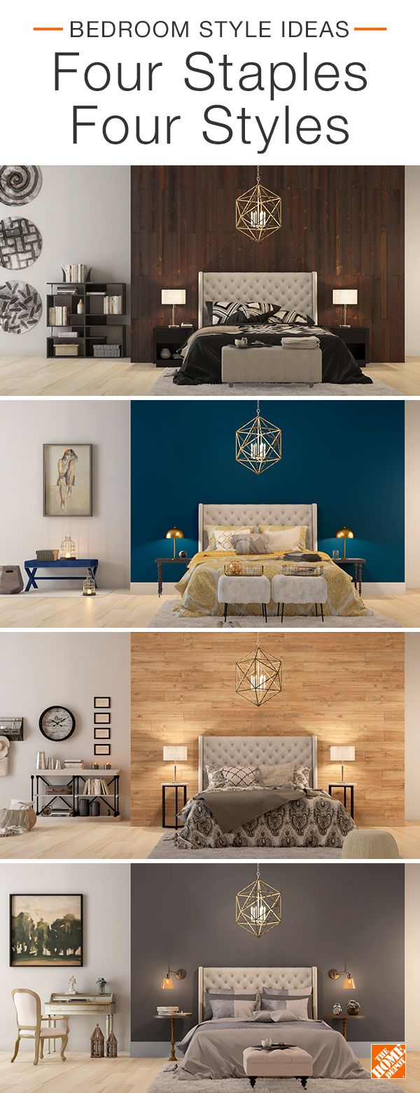 Find out how to mix and match decor to create four trending looks. Whether you want to go sleek and contemporary, boldly eclectic, modern farmhouse or classic and comfy, all it takes is a few key decor pieces to get the bedroom style of your dreams. Click to explore these looks.
