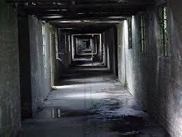 """Om de epidemie in te dammen, worden de """"zieken"""" in quarantaine geplaatst. Deze ruimte is een verlaten ziekenhuis. Mede doordat het blinden zijn, kunnen ze de weg naar het sanitair niet vinden. Daardoor verandert het verlaten ziekenhuis al gauw in een walgelijke omgeving."""