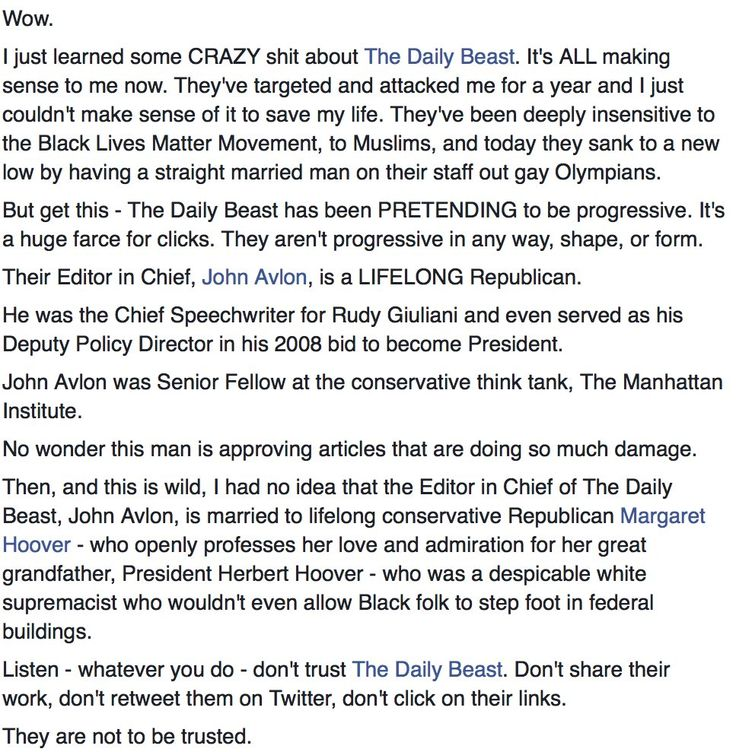 Understanding the Daily Beast by Shaun  King, they have deep roots in Conservatism and White Supremacy