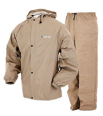 Jacket and Pants Sets 179981: Frogg Toggs Pro Lite Rain Suit | Khaki | Xl 2X -> BUY IT NOW ONLY: $39.95 on eBay!