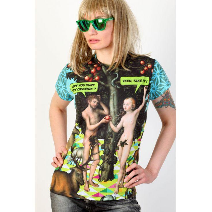 Koszulka - Adam i Ewa - PUNK PARROT - Odzież i plakaty - sklep internetowy