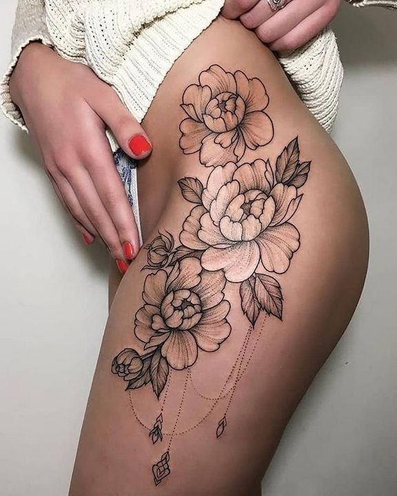 45 Beautiful Hip Tattoo Design Ideas For Women: 35+ Most Beautiful Tattoos For Girls To Copy In Your Body