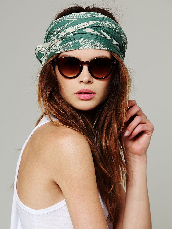 If only I could make a head-scarf look this cool! - Free People Wrap