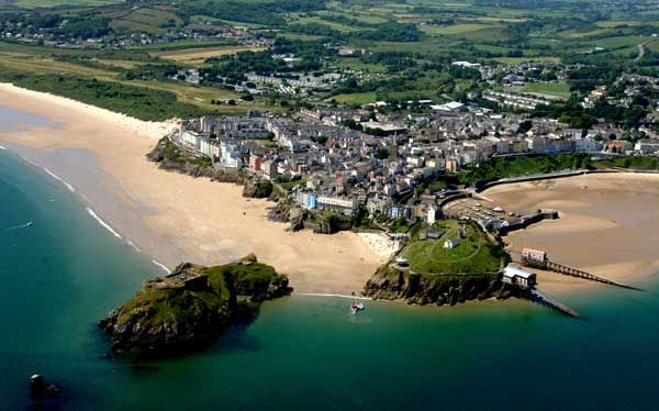 An aerial view of Tenby (Pembrokeshire)