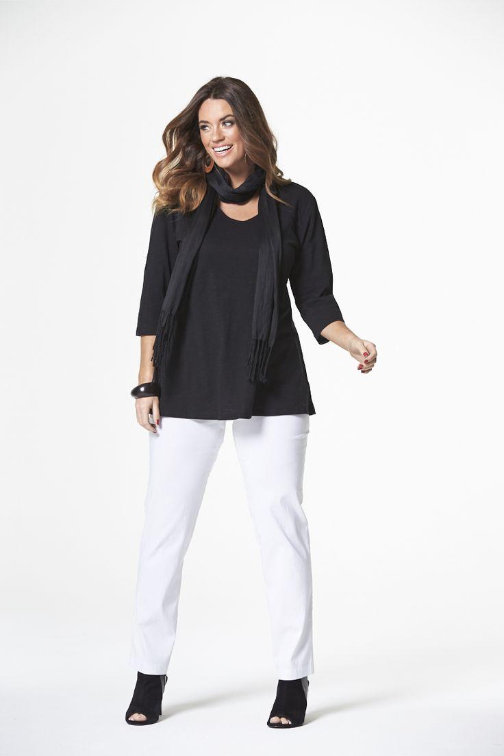 The Naturals Slub Tee in Black  #mysize #plussize #fashion #plussizefashion #spring #newarrivals #outfit