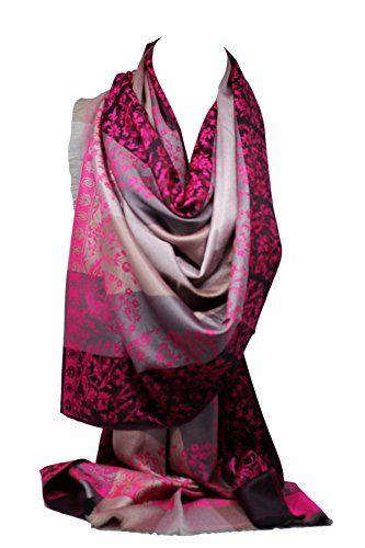 e974b2f5afb6 Bullahshah Qualité deux faces impression libre en relief Pashmina sensation  Wrap écharpe étole châle