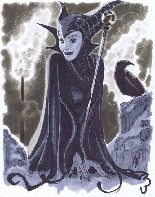 maleficent by adam hughes