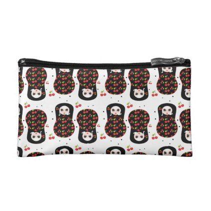 Black Cherry Missydoll Makeup Bag - pattern sample design template diy cyo customize