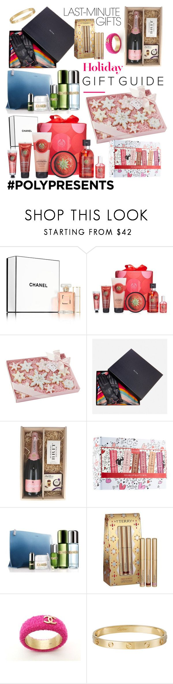 """""""#PolyPresents: Last-Minute Gifts"""" by akritiarora7 ❤ liked on Polyvore featuring beauty, Sephora Collection, The Body Shop, Paul Smith, Piper-Heidsieck, Boxfresh, La Mer, By Terry, Chanel and Cartier"""
