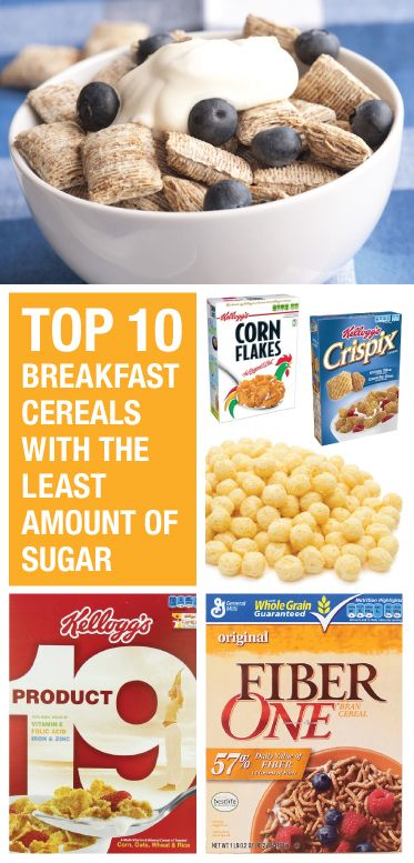 Low sugar cereals. Mix in to ease off more sugary cereal
