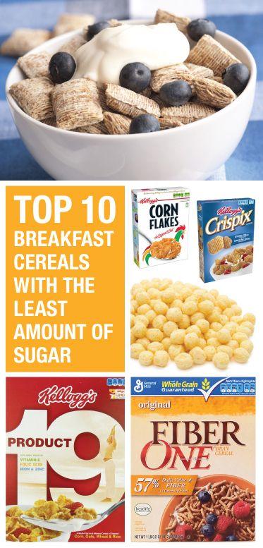 Low sugar cereals.