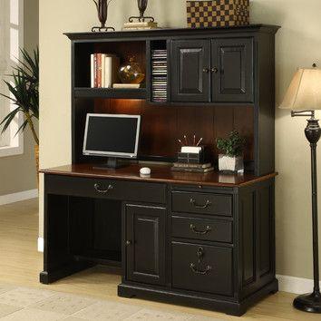 riverside furniture bridgeport computer desk with hutch