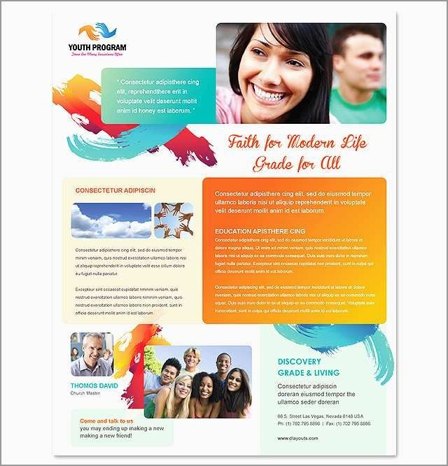 Free Youth Ministry Flyer Templates Youth Brochure Template Free