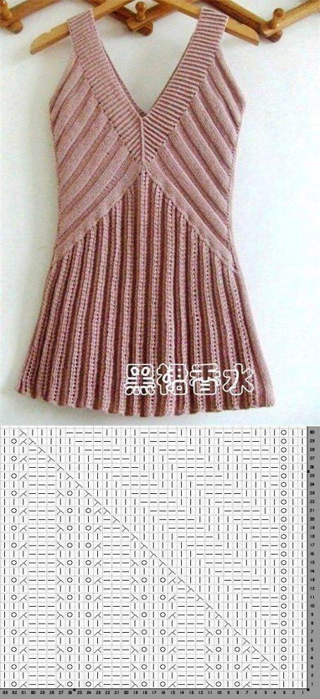 knitting pattern blouse summer...♥ Deniz ♥