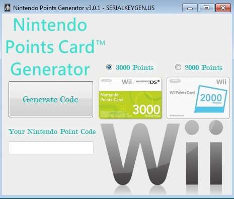 how to get free nintendo wii points codes