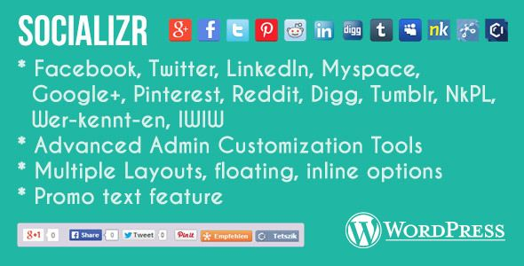 Socializr Social Share Toolbar WordPress Plugin   http://codecanyon.net/item/socializr-social-share-toolbar-wordpress-plugin/7421350?ref=damiamio      The only Social Share Toolbar you'll ever need Mobile Aware, Fully Customisable Wordpress plugin for managing your social network reach. Over 17 networks including Facebook, LinkedIn, Pinterest, Twitter and more. Fully customise all the icons, background, promotional text, layouts, and more.       Key features   Mobile aware  Floated or…