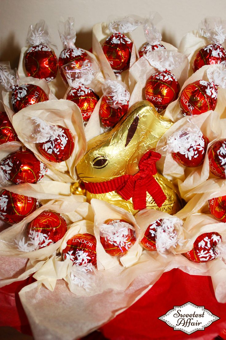 Easter Lindt Lindor Red Bunny Chocolate Truffles Bouquet  http://www.ebay.co.uk/usr/sweetestaffair