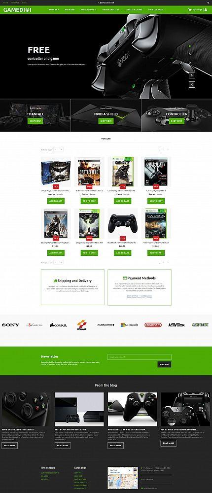 GAMEDIOI - #gamers  Portal #responsive  MotoCMS #ecommerce  #template