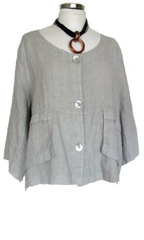 Linen Crop Jacket – Marie - S