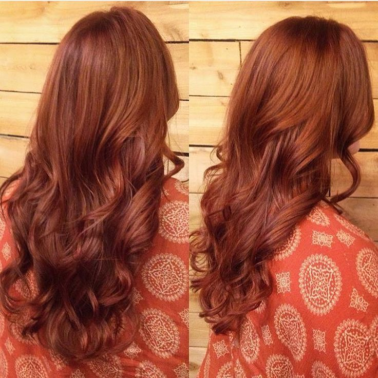 Rich Reddish Brown Hair with Copper Streaks