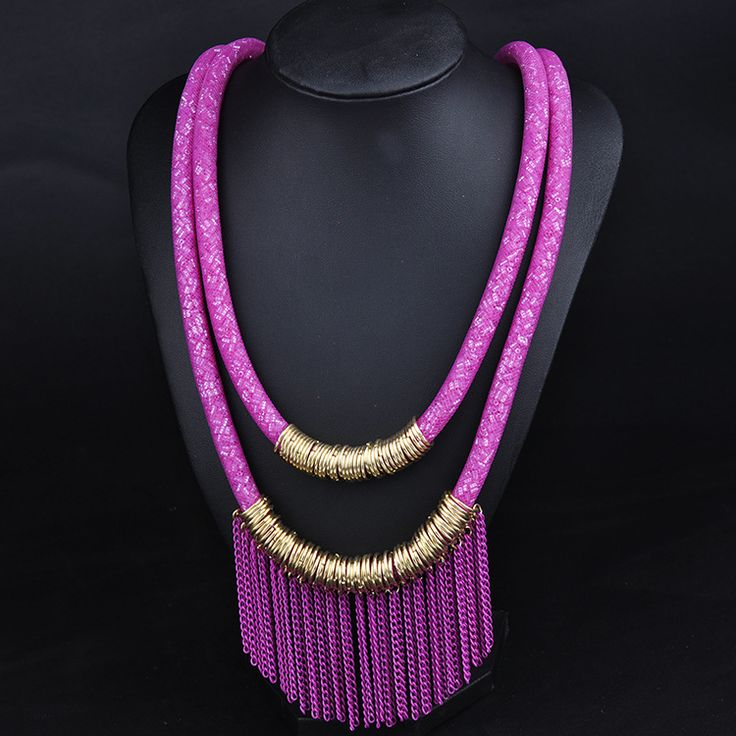 Hot sale Long Tassel Necklace Romantic chain Charms Necklaces For Women Ladies Jewelry Wholesale Dress Gifts Ethnic Accessories - free shipping worldwide