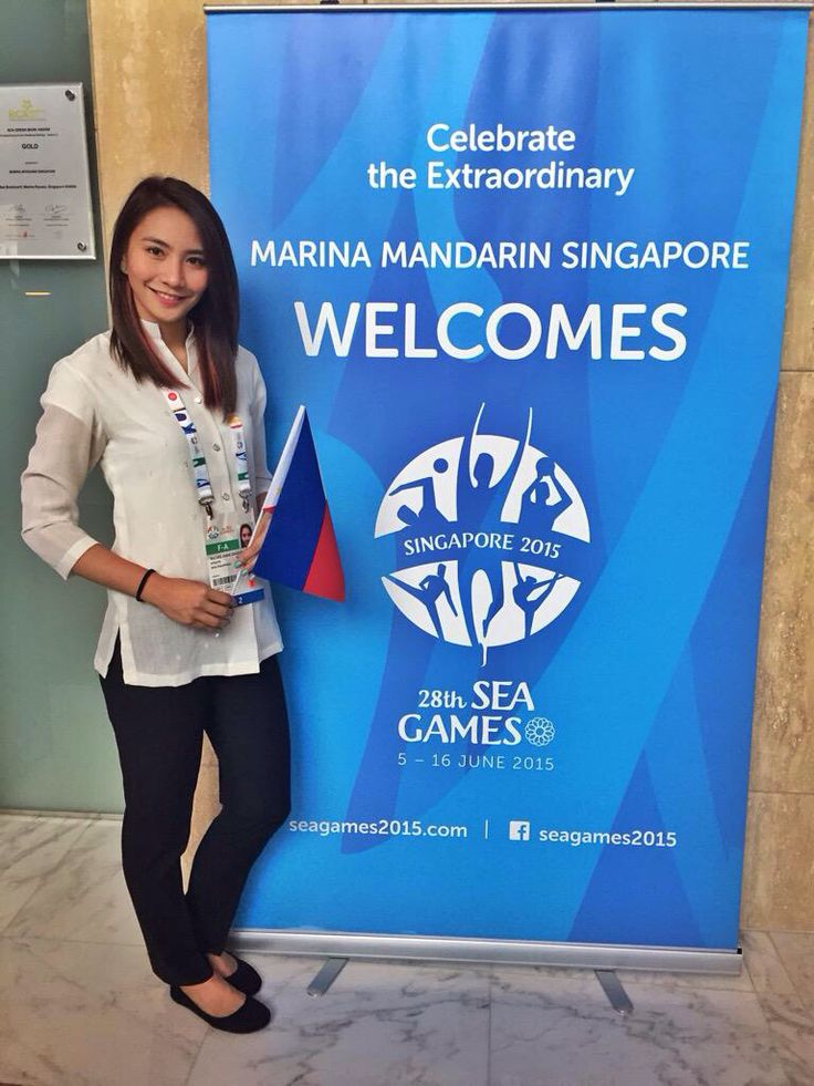 Rachelle Ann Daquis representing the Philippines for the Southeast Asian Games
