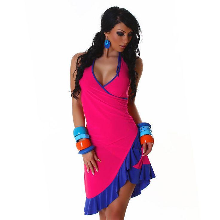 Neu Neckholder Kleid Salsa Latina Cocktail 34 36 38 tolle Farben ...