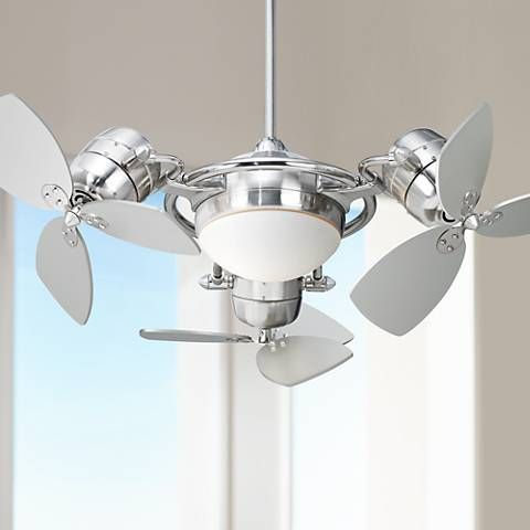 Possini Euro Fx3 Ceiling Fan With Silver Blades P6692 Lamps