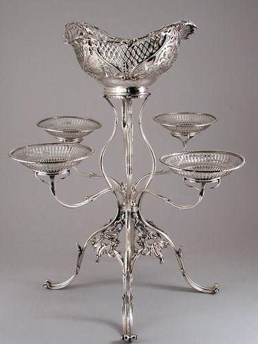 George III silver epergne, Thomas Powell, London, 1778