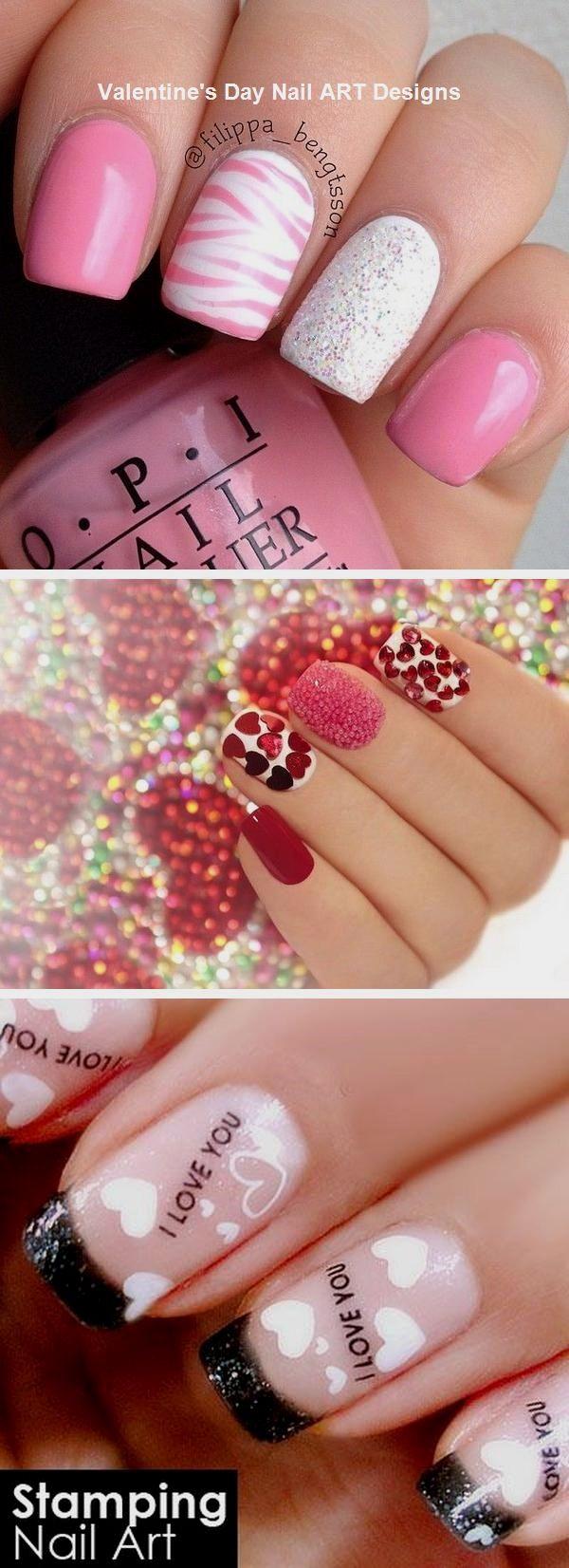 Best Nail Art Design Ideas for Valentines Day #valentinesday #naildesign