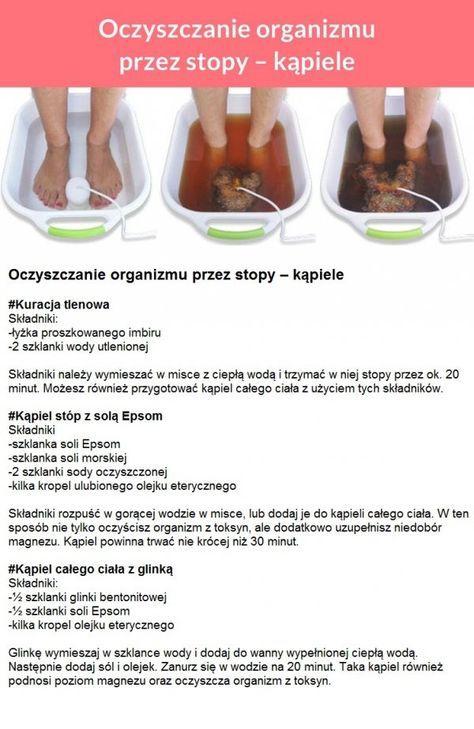 Oczyszczanie organizmu przez stopy - KĄPIELE!!!