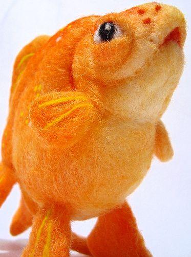 Needle Felted Goldfish WOW!