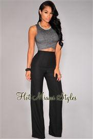 Black High-Waist Pleat Wide Leg Pants