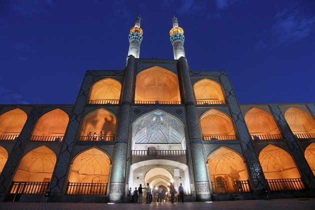 The Takyeh Amir Chakhmagh Mosque in Yazd, Iran