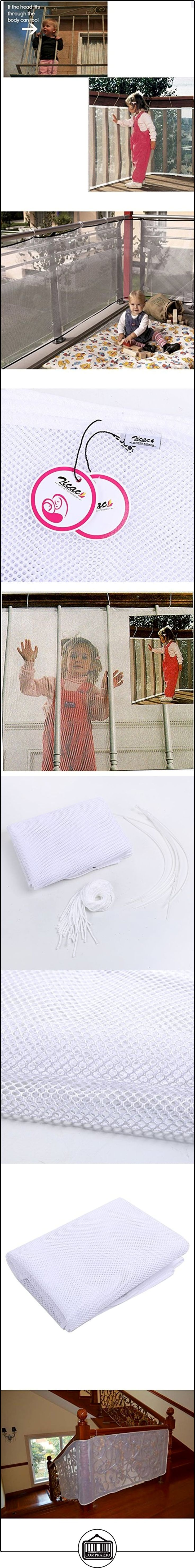 Zicac - Red Valla Barrera de Seguridad de Balcón de Color Blanco para Niños Bebé (3 metros)  ✿ Seguridad para tu bebé - (Protege a tus hijos) ✿ ▬► Ver oferta: http://comprar.io/goto/B019T02CX4