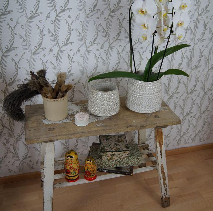 Vintage Tische -  Alte Bank  rustikal vintage Shabby  - ein Designerstück von BrocanteFensterlaedenundMehr bei DaWanda