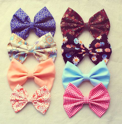 use a hair bow and your whole outfit is automatically CUTER :)