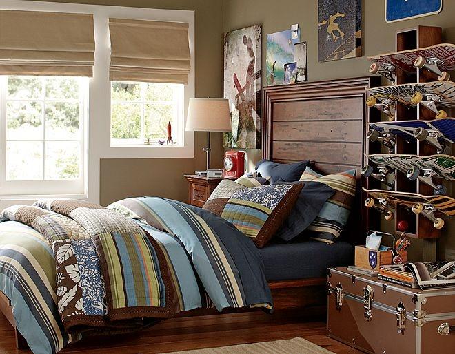 144 best kids bed images on pinterest child room girl for Boys skateboard bedroom ideas