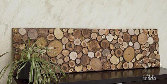 Escultura de pared madera recuperada mosaico de madera La Jungla. #Imarteko. Panel decorativo ecológico inspirado en la naturaleza. Aporta fuerza, calidez y serenidad. #DecoraciónRústica. #RodajaDeArbol #MaderaReciclada. Pincha en la foto para ver más The jungle. #Imarteko #WoodWallArt Ecological decorative panel inspired by nature that brings strength, warmth and serenity due to the warm tones that have been applied. Click on the photo to see more. #TreeSlices