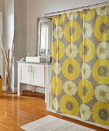 Gray Sunflower Shower Curtain Zulilyfinds