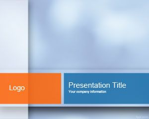 Light Blue PowerPoint Template is a free light PowerPoint template background combining orange and light blue colors in a professional ready made slide for presentations #powerpoint #abstracto #fondo