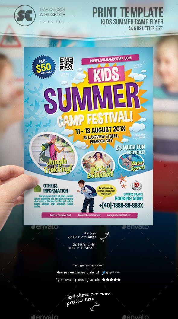 Kids Summer Camp Flyer Holiday Flyer Template Summer Camps For Kids Summer Kids