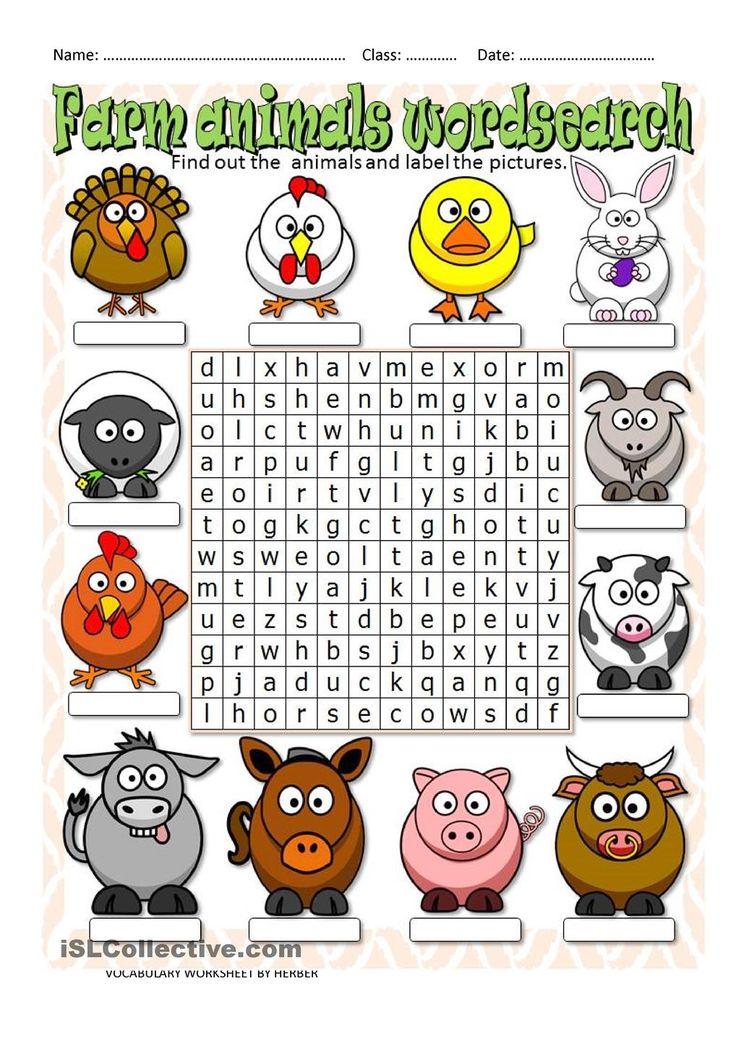 farm animals wordsearch pz animal worksheets 1st grade worksheets a kids word search. Black Bedroom Furniture Sets. Home Design Ideas