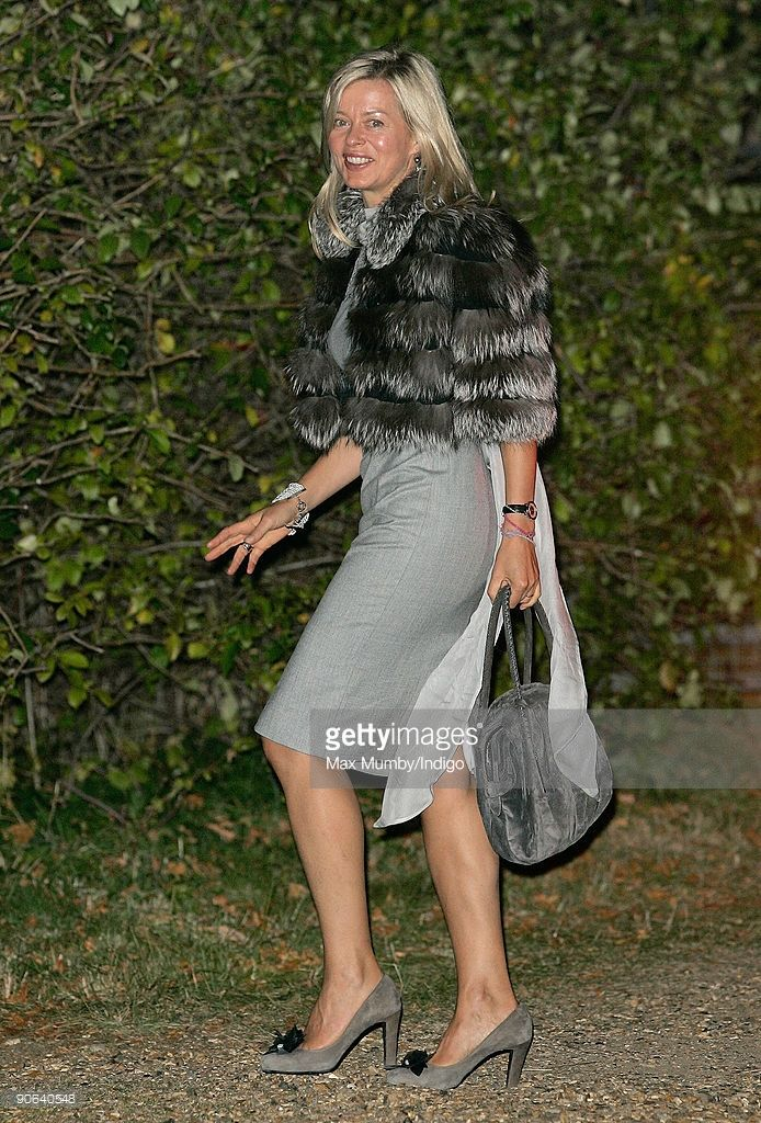 Lady Helen Taylor arrives at the home of Lady Annabel Goldsmith for an evening reception after attending the wedding of Lord Frederick (Freddie) Windsor and Sophie Winkleman on September 12, 2009 in London, England.