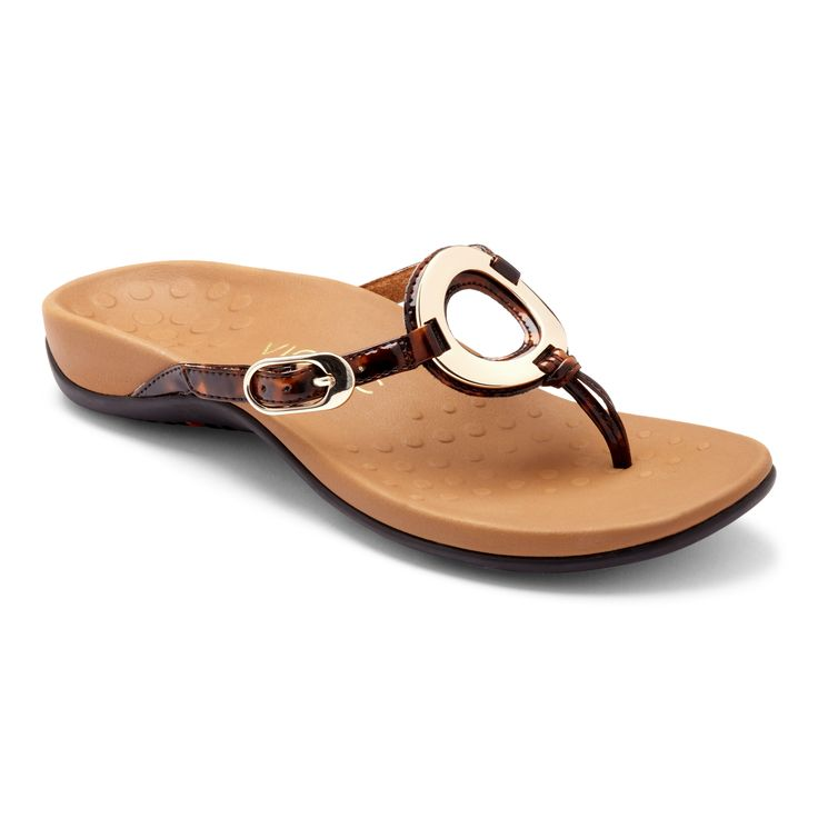 Vionic with Orthaheel Karina Women's Sandal 9 B(M) US Tortoise