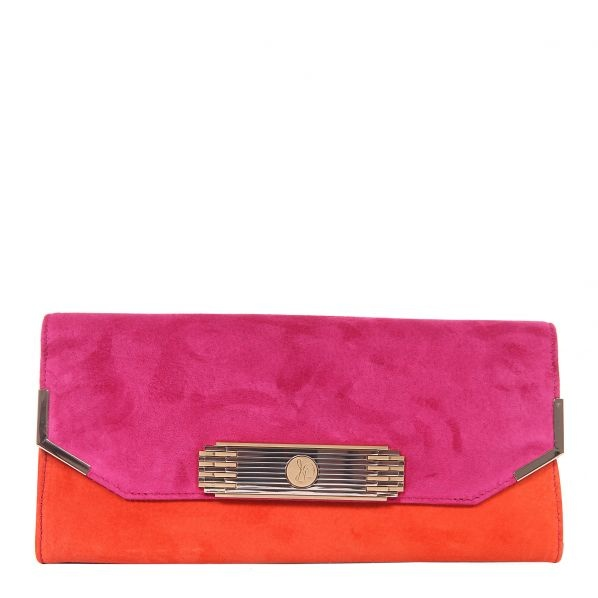 nice color-blocking style, simple clutch- bold colors, without being overwhelming.  love it.