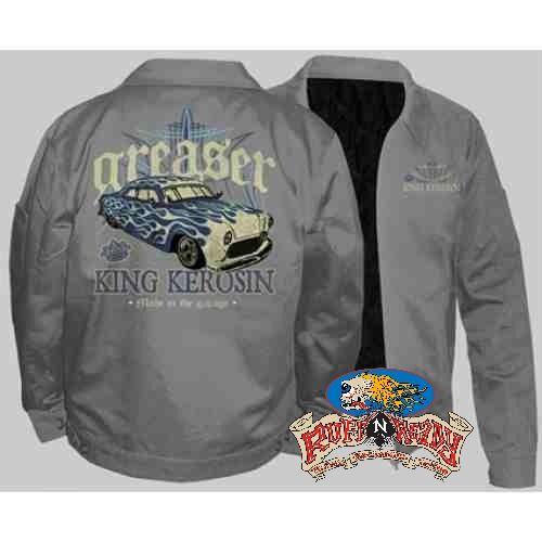 """Bring back your classic fashion sense with Greaser Embroidered Jacket by King Kerosin #rockabillyautumn #RuffnReadyAus #AutumnFashion #KingKerosin #GreaserEmbroideredJacket #fashionstatement"""