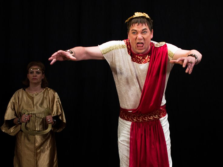 Michael Spyra as Emperor Nero #theatrephotography  #availablelight